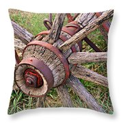 Wheel Of Old Throw Pillow