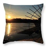 Wheel Of The Sun Throw Pillow