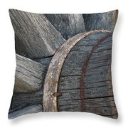 Wheel Of Time Past Throw Pillow