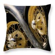 Wheel To Wheel Throw Pillow