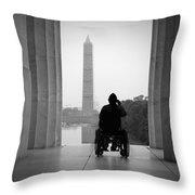Wheelchair Vet Salute Throw Pillow