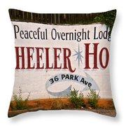 Wheeler House Throw Pillow