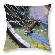 Wheeling Throw Pillow