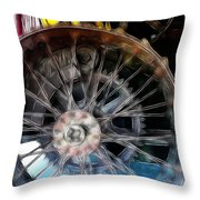 Wheels Throw Pillow