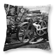 Wheels Gears And Cogs Throw Pillow