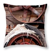 Wheels Of Misfortune Throw Pillow