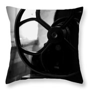 Wheels Of Production Throw Pillow