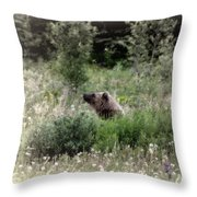 When Bears Dream Throw Pillow