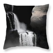 When Darkness Falls Throw Pillow