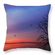 When Day Kisses Night Throw Pillow
