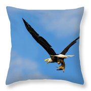 When Dogs Fly Throw Pillow