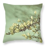 When Gorse Flowers Sing Their Melody Throw Pillow