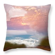 When Heaven Breaks - Surrealism Throw Pillow