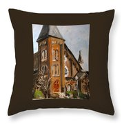 When I Was A Stranger You Welcomed Me Throw Pillow