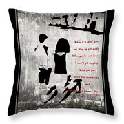 When I'm With You Throw Pillow