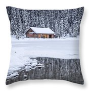 When It Snows Outside Throw Pillow by Evelina Kremsdorf