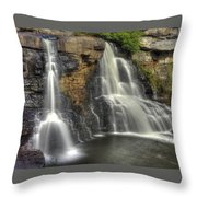 When Light And Water Falls-1a Blackwater Falls State Park Wv Autumn Mid-morning Throw Pillow