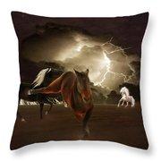 When Lightning Strikes Throw Pillow