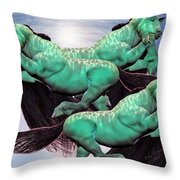 When Lightning Strikes Throw Pillow by Betsy Knapp