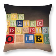 When Nothing Goes Right Go Left Throw Pillow