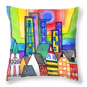 When Old Meets New Throw Pillow