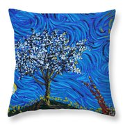 When Squiggles Swim Throw Pillow