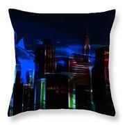 When The City Sleeps Throw Pillow