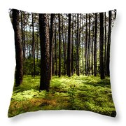 When The Forest Beckons Throw Pillow by Karen Wiles