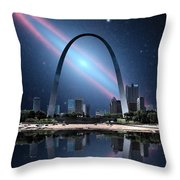 When The Galaxy Came To St. Louis Throw Pillow