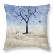 When The Last Leaf Falls... Throw Pillow by John Edwards