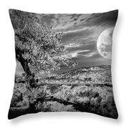 When The Moon Comes Over Da Mountain Throw Pillow