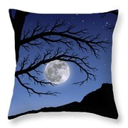 When The Moon Hits Your Eye Throw Pillow