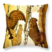 When The Rooster Crows Throw Pillow