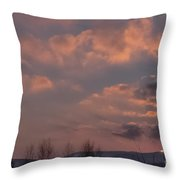 When The Skies Are Burning  Throw Pillow