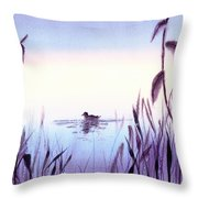 When The Sky Melts With Water A Peaceful Pond Throw Pillow