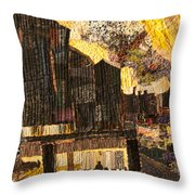 When The Sky Rained Fire Throw Pillow by Martha Ressler