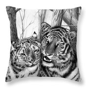 When Two Hearts Collide Throw Pillow