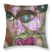 When We Find Love Throw Pillow