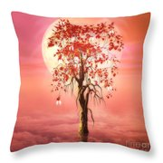 Where Angels Bloom Throw Pillow