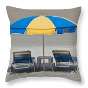 Where Are All The Beach Bums? Throw Pillow