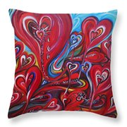 Where Broken Hearts Go Throw Pillow