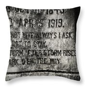 Where Dark Storms Rise Throw Pillow