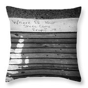 Where Do They Come From? Throw Pillow