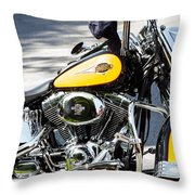 Where Do You Hang A Harley Cap Throw Pillow