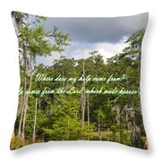 Where Does My Help Come From Throw Pillow