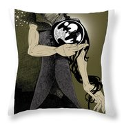 Where Does She Go At Night? Throw Pillow