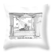 Where Earl Gets His Ideas Throw Pillow by Michael Crawford