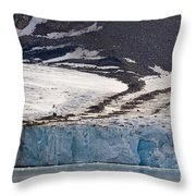 Where Glaciers Meet Throw Pillow