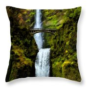 Where Gnomes And Trolls Play Throw Pillow