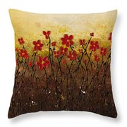 Where Happiness Grows Throw Pillow